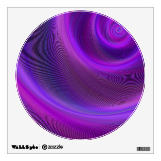 Purple night storm wall sticker
