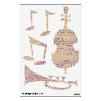 Purple Notes Music Wall Decals