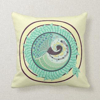 Purple Nouveau Peacock Art Decor Pillow