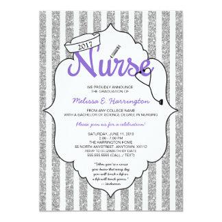 Purple Nurse graduation RN pinning ceremony party Card
