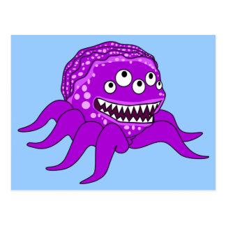 Purple Octopuss Monster Postcard