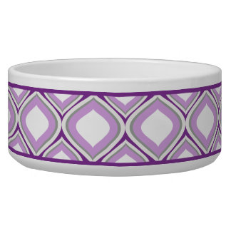 Purple Ogee Ceramic Dog Bowl