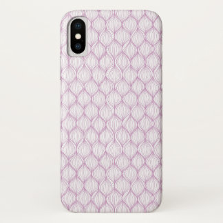 Purple ogee stripes pattern background Case-Mate iPhone case