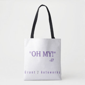 "Purple ""OH MY!"" 2 Tone Tote"
