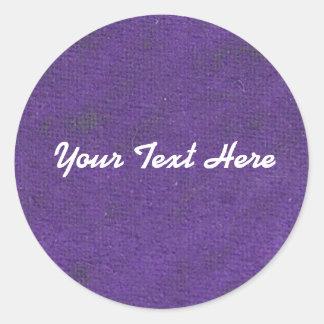 Purple Oil Pastel Circle Sticker   Customize