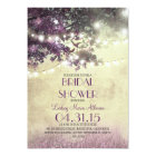 Purple old oak tree & love birds bridal shower card