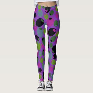 """Purple """"olives"""" leggings"""