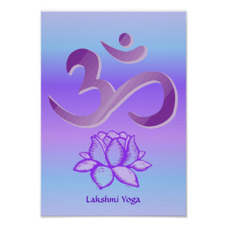 Purple Om and Lotus print