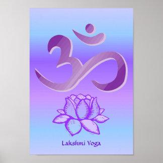 Purple Om and Lotus print