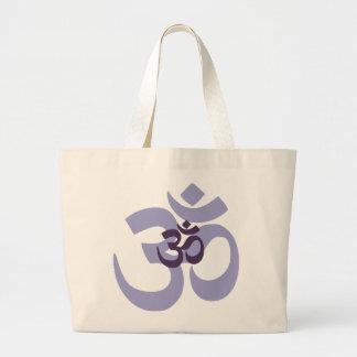 Purple Om Aum hindi design for yoga & meditation Jumbo Tote Bag