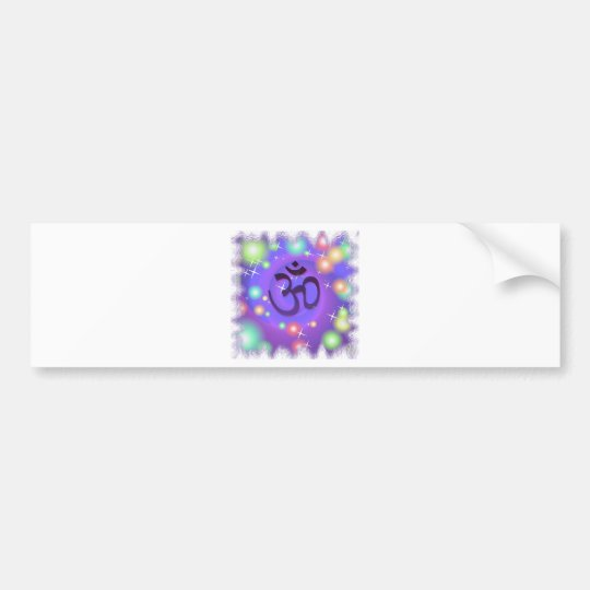 purple om bumper sticker