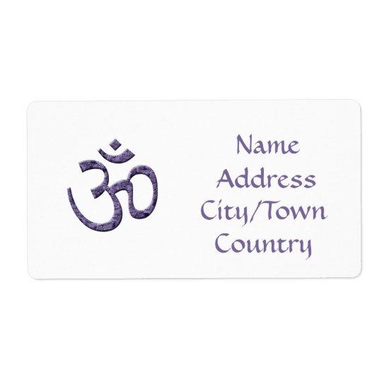 Purple Om Symbol/address label