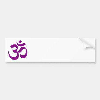 Purple Om Symbol Bumper Sticker