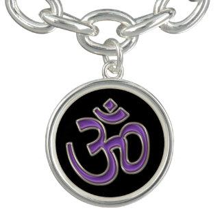 Purple OM Symbol Charm and Bracelet