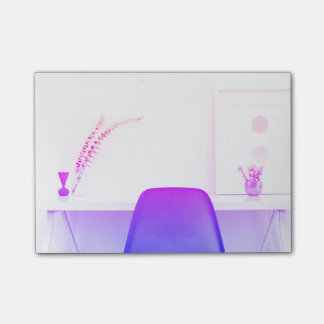 Purple Ombre Chair Study From The Desk Of Post-it Notes