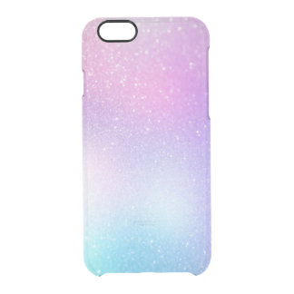 Purple ombre glitter sprinkles sparkles clear iPhone 6/6S case