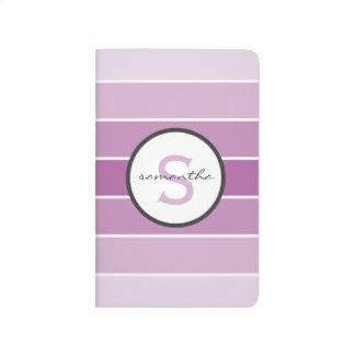 Purple Ombre Stripes Journals