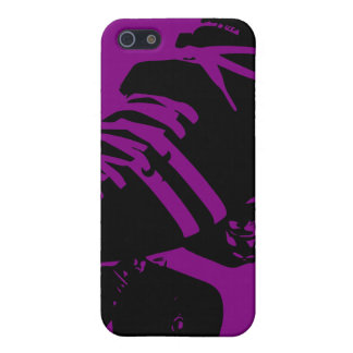 Purple on Black Roller Derby Skate iPhone Case iPhone 5/5S Cases