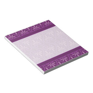 Purple on Purple Floral Pattern Notepad