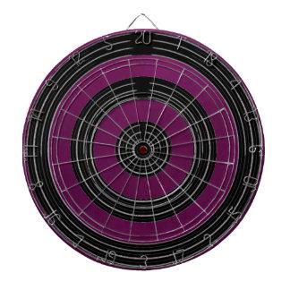 Purple on Satin Silk Black Wheels - Happy Time Dartboard