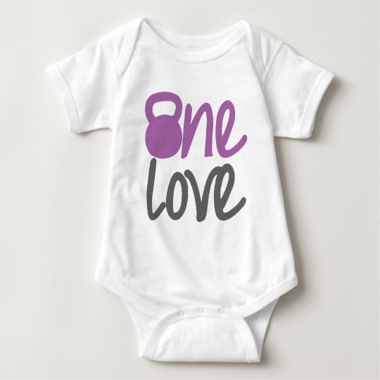 "Purple ""One Love"" Baby Bodysuit"