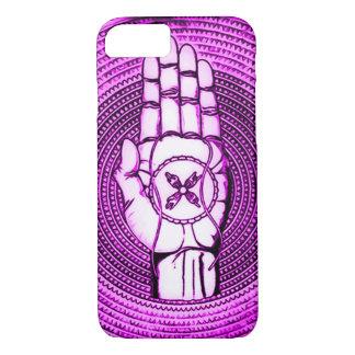 Purple Oracle Hand Art iPhone 7 Case