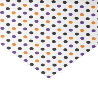 Purple Orange and Black Halloween Tissue Paper