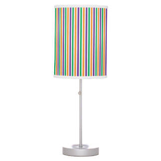 Purple Orange And Green Striped Pattern Table Lamp
