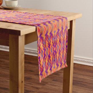 Purple Orange Flames Abstract Medium Table Runner