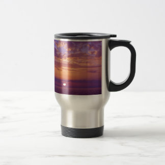 Purple Orange Florida Sunset Travel Mug