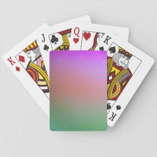 purple, orange, green  playing cards