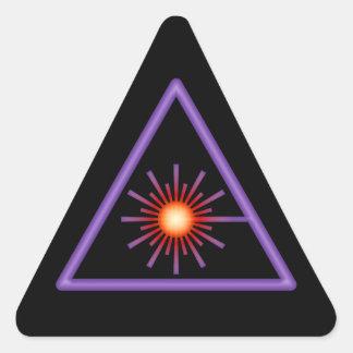 Purple & Orange Laser Warning Sticker