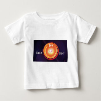 "Purple Orange ""My Souls Light"" Spiritual Design Baby T-Shirt"