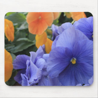 Purple & Orange Pansies w/ Green Floral Photo 4810 Mouse Pad