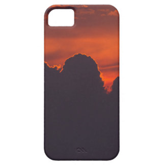 Purple orange sunset clouds case for the iPhone 5