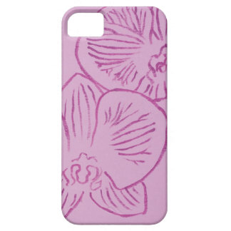 Purple Orchid Abstract Art Case For The iPhone 5