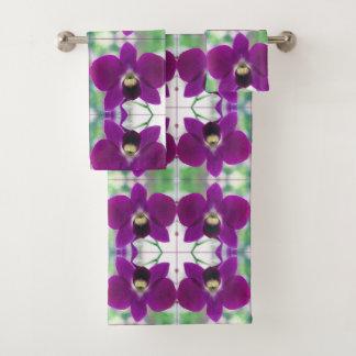 Purple Orchid Bath Towel Set