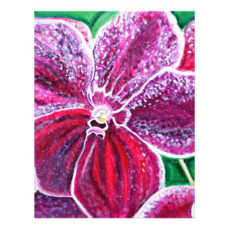Purple Orchid Bloom Letterhead