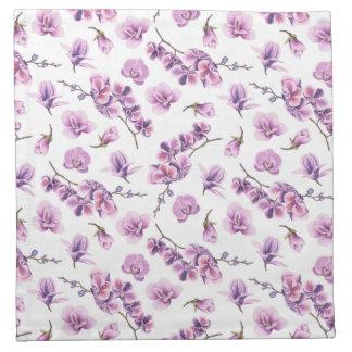 Purple Orchid Cloth Napkins