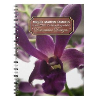 Purple Orchid Decorative Modern Nature Notebook
