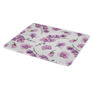 Purple Orchid glass cutting board