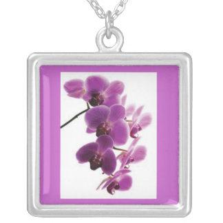 Purple Orchid Necklace