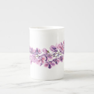Purple Orchid Teacup Tea Cup