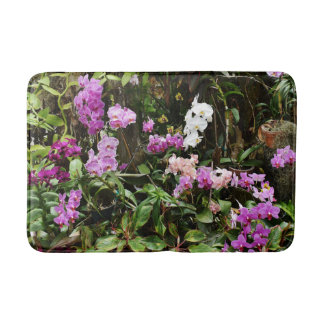 Purple Orchids Bath Mat