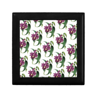 Purple Orchids flowers Pattern Gift Box