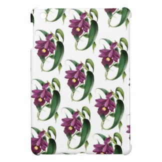 Purple Orchids flowers Pattern iPad Mini Cover