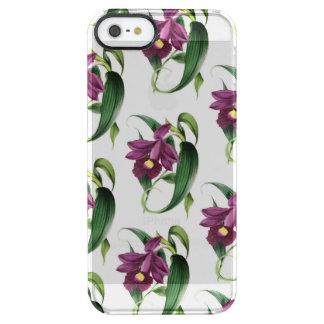 Purple Orchids Pattern Clear iPhone SE/5/5s Case