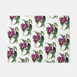 Purple Orchids Pattern Doormat