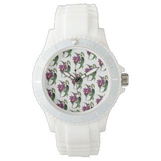 Purple Orchids Pattern Watch