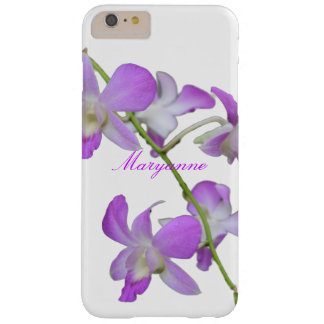 Purple Orchids personalized name Barely There iPhone 6 Plus Case